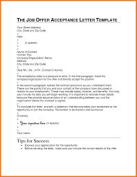 Best Ideas Of 9 Job Offer Acceptance Letter In Business Letter Job