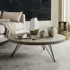 mansel retro mid century round coffee table fox4233a coffee tables