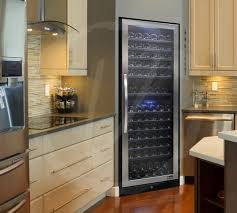 Kitchen with Designer Series Wine Cooler by Vinotemp contemporary-kitchen