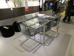 i wanted to work with transparency as a predominate element in order regarding glass dining table ikea round