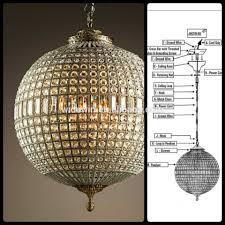chair surprising sphere chandelier with crystals 18 crystal globe luxury ball hotel living room led lamps