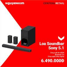 NguyenKim (nguyenkim.com) - Loa Soundbar Sony 5.1 HT-S20R C SP1 ✓Công suất  lớn 400W, thoải mái tận hưởng âm nhạc ✓Hỗ trợ nhu cầu sử dụng tối đa với  cổng USB và