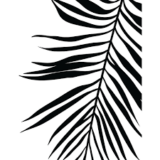 Small Picture Palm Leaf Print Tropical Leaf Print Printable Art Palm Art
