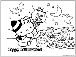 Click a picture to begin coloring. Hello Kitty Halloween Coloring Pages Cartoons Coloring Pages Free Printable Coloring Pages Online