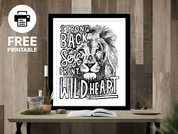 download this free printable by heading to my website  on brene brown wall art with strong back soft front wild heart on behance