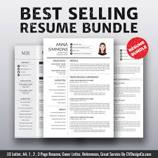 Ms Office Cv Templates 2019 Best Selling Ms Office Word Resume Cv Bundle The Anna Resume
