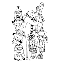 To Print Minion Coloring Pages From