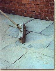 grouting exterior pavers. dry grouting exterior pavers a