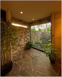 tropical bathroom lighting. Tropical Bathroom Concept With Chic Concrete Flooring And Cool Lighting 2