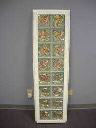 vinyl framed glass block window wtih dichroic glass