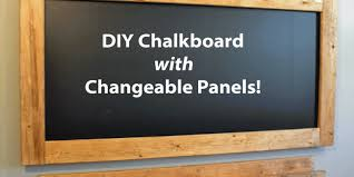 how to make a chalkboard with easy to change panels
