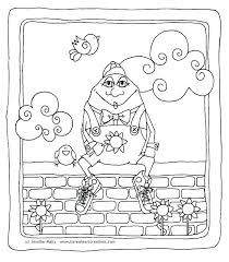 humpty dumpty coloring page coloring coloring page free kids coloring page egg coloring page sat on