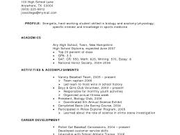 Resume Templates Template School Leaver No Work Experience Cv For