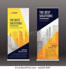 banner design template corporate roll up banner design template construction roll eps