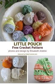 Little Pouch Free Crochet Pattern- Inexpensive, Pretty, And Quite Handy! -  Knit And Crochet Daily | Free crochet, Free crochet pattern, Crochet  accessories