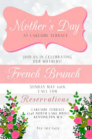 Happy Mothers Day Poster Design Mothers Day Poster Design Brunch Click To Customize