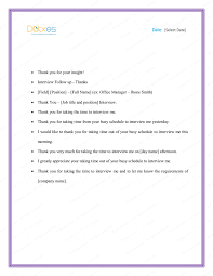 Sample Thank You Letter After Interview 5 Plus Best Templates Dotxes
