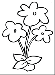 Coloring Pages Simple Flower Coloring Pages Free Printable For