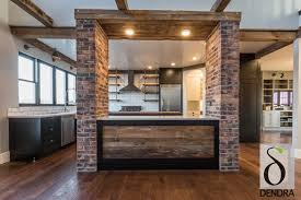 rustic modern brick accents with