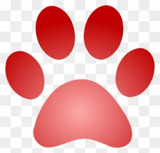 red dog paw clipart. Delighful Paw To Red Dog Paw Clipart A