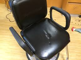 auto artisans inc leather furniture repair barber chair before