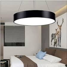 round pendant led chandelier office modern minimalist fashion study restaurant hanging line lighting lamps commercial lighting modern pendant light fixtures