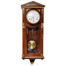 french mahogany empire style westminster chime wall clock for