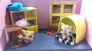 How To Make A Cute Bedroom For An LPS Cat: Doll House DIY   YouTube