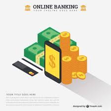 online banking concept template vector  online banking concept template vector