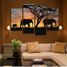 elephant family 4 piece canvas wall art on 4 piece wall artwork with elephant family 4 piece canvas wall art daily steals
