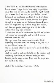 Perks Of Being A Wallflower Quotes Infinite QuotesGram Image Interesting Infinity Love Quotes