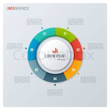 Cu Stock Chart Modern Style Circle Donut Chart Stock Vector Colourbox