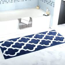 designer bathroom mats uk fine unique rug trellis extra long bath designs blue white color creative luxury bath mats