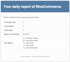 sales daily report woocommerce sales report email woocommerce