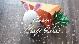 super easy and cute easter crafts and diys cute bunny paper carrot gift box