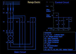 electrical winding wiring diagrams in operation the main contactor k3 and k1 star contactor will be energized initially and then after some time the contactor will be de energized star is