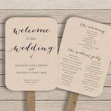 Wedding Program Fans Cheap Wedding Program Fan Template Printable Rustic Wedding Fan