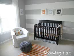 ... Cute Picture Of Black And White Baby Nursery Room Design And Decoration  Ideas : Stunning Grey ...