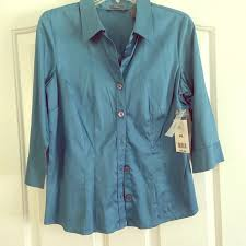 Hillard & Hanson Tops | Hilary Hanson Button Up Blouse Pl Wall Tags |  Poshmark