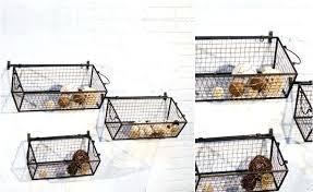 hangg wall mounted metal basket wire hanging fruit storage organizer bin