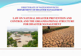Mpi Organisational Chart Law On Natural Disaster Prevention And Organizational