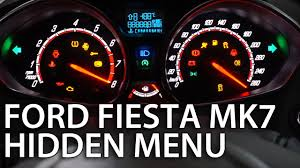 How To Enter Ford Fiesta Mk7 Hidden Menu Diagnostic Service Mode Dtc Needle Sweep