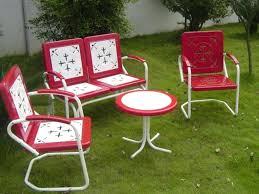 vintage iron patio furniture. Retro Patio Chair Awesome Vintage Metal Furniture With Table Quint Magazine Regarding . Iron