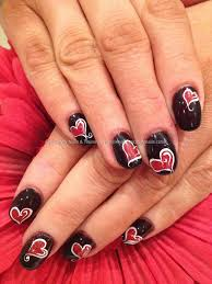 Eye Candy Nails & Training - Acrylic nails with red and black ...