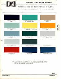Details About 1954 1955 1956 1957 To 1963 1964 1965 1966 Ford Trucks Paint Chips 5464rm