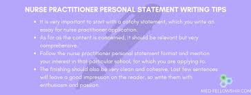 nurse personal statement nurse practitioner personal statement tips med fellowship