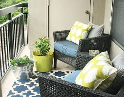 Balcony patio furniture Amazing Patio Small Porch Furniture Patio Furniture For Small Balconies Blue Chair With Black Rattan Frame Sauder Furniture Patio Amazing Small Porch Furniture Small Space Patio Furniture