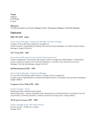 Gallery Of Free Senior Project Manager Resume Template Sample Ms