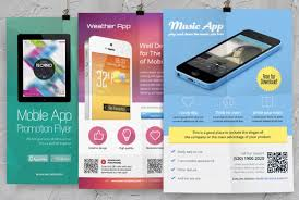 Design Flyer App Design Print Ready Flyer For The Promotion And Advertisement Of Your Mobile Apps