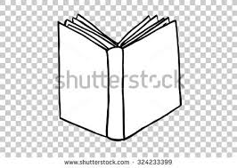 hand draw sketch of book at transpa effect background